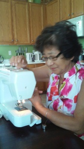 mom sewing